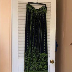 EUC strapless maxi dress